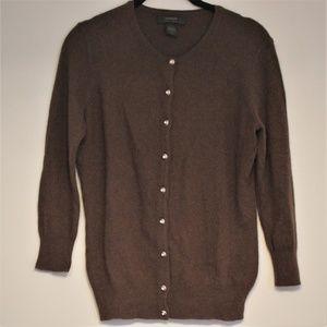 Express Angora & Lamb Soft Wool Button-Up Cardigan